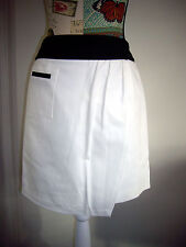 BNWT DESIGNER ANNE KLEIN BLACK WHITE OFFICE WEAR-TO-WORK SKIRT SIZE US6P / AU10