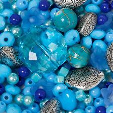 300 perlen blau und silber Mix Schmuck Machen Bastelpaket Bastelset Basteln