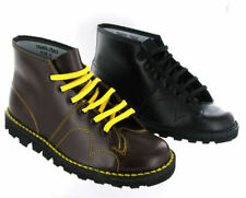 Monkey Boots Grafters Original Leather Cherry Red Wine Black Mens Womens Ladies