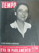 "Time No. 20/15-22 mag.1948 ""the Joan Crawford of Montecitorio"""