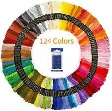 124x Skein Cross Stitch Threads Embroidery Cotton Bundle Multicolou Craft Sewing