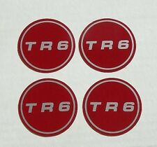 TRIUMPH TR6 WHEEL CENTER EMBLEM BADGE TRIM LABEL DECAL STICKERS FOR MEDALLIONS