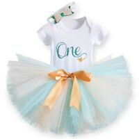 Baby Girl 1st Birthday Party Outfit Dress Tutu Jasmine Aladdin One Cake Smash Au