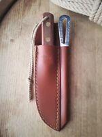 Sheffield Bowie Knife w/ Marlinspike + Leather Sheath - Made in England