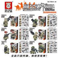 Bausteine Figur Russische Alpha Spezialeinheit Militär Soldaten Waffen Toys 6PC
