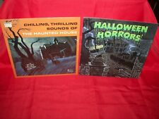 lot of 2 HALLOWEEN the haunted house horrors LP record album