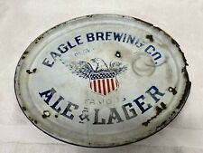 1910 Porcelain Eagle Brewing Beer Tray Providence Rhode Island Rare Lager Ale