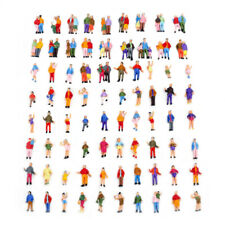 H0 Spur 1:87 Verschiedene Figuren Personen, Paaren und Dreiergruppen 100 Stück