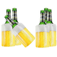 6 Stk Bier Wein Kühlmanschette Bierkühler Flaschenkühler Getränkekühler
