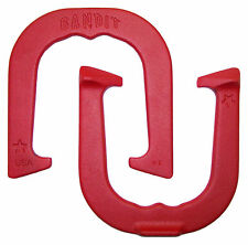 Bandit Horseshoes- Red, One Pair (two shoes) Made in USA