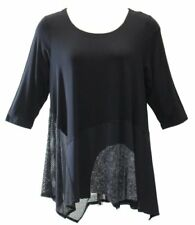 Alembika Women's Black Mix Tunic   NWT  Size 8  funky tunic - made in Israel