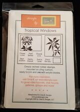 Gina K Stamp Set TROPICAL WINDOWS Stamp Kit Rubber Stamps