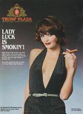 Trump Plaza Atlantic City NJ PRINT MAGAZINE AD 1995 Lady Luck Smokin' Cigar Rare