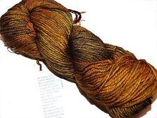 Warm Browns GLITTER 1 Skein 210yd Malabrigo RIOS Soft SUPERWASH MERINO Wool YARN