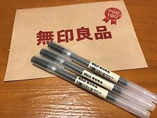 GENUIN JAPAN MUJI MoMA Super Fine 0.38mm Gel Ink 3 BLK Ball-Pens F/S from Osaka