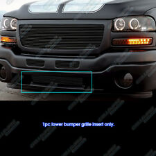 For 2003-2004 GMC Sierra 2500/2003 Sierra 1500/2500HD Black Bumper Billet Grill