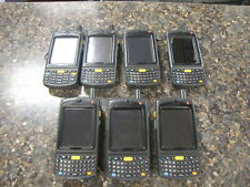 Lot of (7) Motorola Symbol 5x Mc75A8 2x Mc7598 Laser Barcode Scanners Pda
