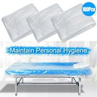 100pcs Disposable Bed Couch Pad Cover Plastic Massage SPA Salon Table Sheet Hot