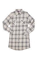 Buffalo kariertes Kinder Long-Hemd Freizeit-Hemd Baumfäller-Hemd Beige Style