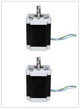 De Free! 2pcs nema 34 motor PAP 8.7n = 1232oz D-Shaft φ14mm 116 mmlength CNC