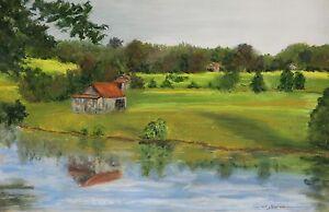 Jones Barns  (5.3 x 8.3) - Giclee Print by Shelley Koopmann