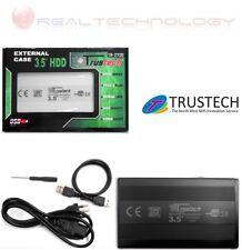 """CASE BOX ESTERNO 3,5 SATA USB 2.0 PER HARD DISK 3,5"""" ALLUMINIO TRUSTECH TR-2720"""