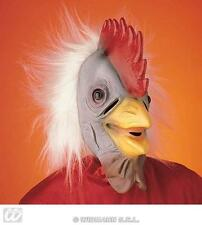 Childrens Chicken Mask With Hair - Farm Animal Fancy Dress