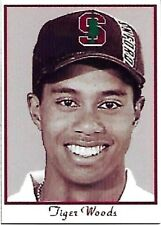 1999 TIGER WOODS The SPORTS PAGE Co STANFORD Promo ROOKIE RC Golf Card #8