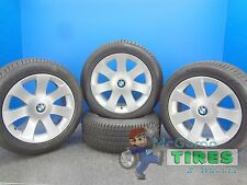 4 BMW OEM WHEELS 7SERIES 18X8 FULLSET + PIRELLI TIRES 245/50/18 RFT OEM TIRES