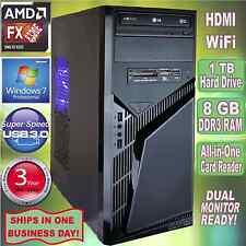AMD FX 8320e 3.5Ghz Turbo 8-Core Desktop PC~8GB DDR3~1TB HDD~USB3~HDMI~Win 7 Pro