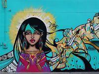 ART PRINT POSTER PHOTO GRAFFITI MURAL STREET LOVE HEART GIRL NOFL0250