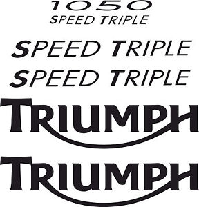 Speed Triple 1050 Fairing / Tank Complete Decal Sticker Set (Any Colour)