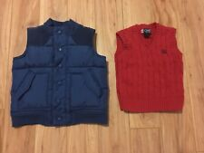 Boys Mixed Clothing Lot Size 3T Brands Old Navy Vest & Chaps Sweater Multi-color