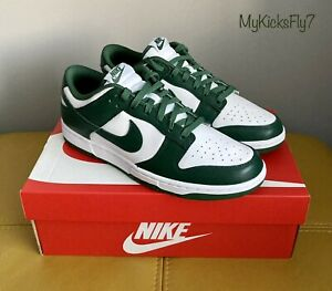🔥BNWB Authentic Nike Dunk Low Retro Trainers Michigan State Team Green UK8 US9