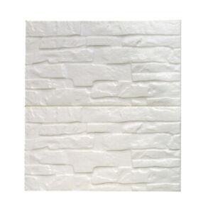 3D Carta da Parati Bianco Muro Di Mattoni Adesivi Pannelli 60x60cm Decor #3