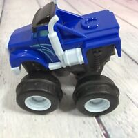 2014 Mattel Blaze and the Monster Machines Crusher Slam and Go Push Truck Blue