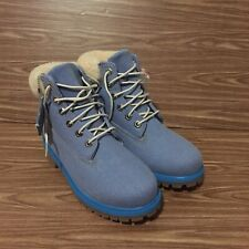 TIMBERLAND X JUST DON JUNIOR BOOT 6 INCH DENIM US SIZE 5.5 UK SIZE 5 A1UXT