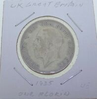 1935 Great Britain Silver One Florin (2 Shillings) George V. 50% Silver KM# 834