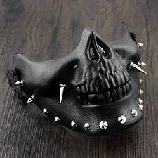 Men's Steampunk Skeletal Spike Half Masquerade Mask Custome Cosplay