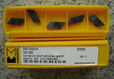 Lastre di svolta 10 X Kennametal DWG 2045316 kc5025 reversibile taglio dischi inserts