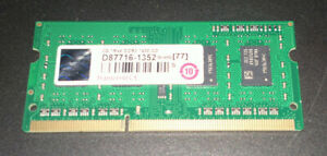 Transcend 2Go 1Rx8 DDR3 1600MHz SoDimm 204-pin
