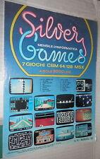 RIVISTA SILVER GAMES 7 GIOCHI CBM 64 128 MSX N 4 Febbraio 1987 Informatica di e