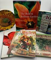 Flower Garden Book Gardening Gardener Potted Style Ideas Lot Of 6 Books 20-50