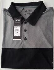 Brand New With Tags, Men'S Adidas Medium (M) Hthr 3 Strp Golf Shirt