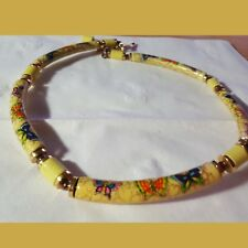 Choker Butterfly -Vintage. Japan Small painted Bead