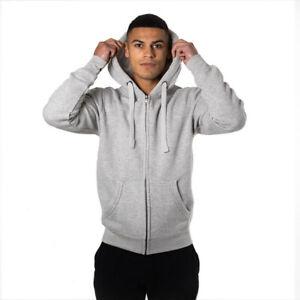 Mens Full Zip Hoodie Cotton Ridge Ultra Premium Soft Feel with Thumb Hole Cuffs