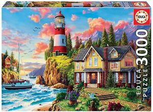 EDU18507 - Jigsaw Puzzle Of Headlight Meadow of the Ocean – 3000 Parts