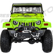 Heavy Duty Front Bumper+Winch Plate+LED Mount+D-rings for 97-06 Jeep Wrangler TJ