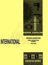International D DT 282 361 429 573 817 DB DC Roosa Master Fuel Pump Parts Manual