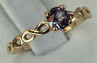 Vintage Original Rose Gold  Alexandrite Ring 585 14K, Chic Alexandrite Ring 14K